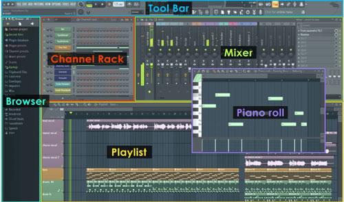 Interfaz de FL Studio 20