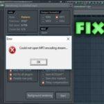 solución error could not open mp3 encoding stream