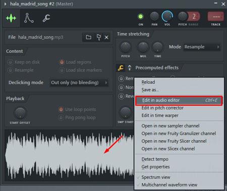 edit in audio editor