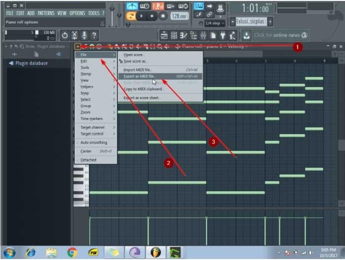 exportar archivos MIDI en FL STUDIO
