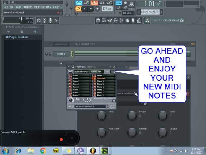 nuevas notas MIDI