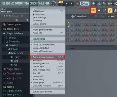 teclado a piano FL Studio