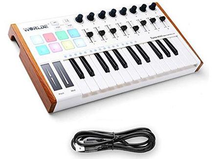 Worlde 25 Key USB Portable Tuna es uno de los mejores teclados MIDI PARA FL STUDIO